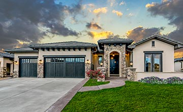 colorado custom home exterior garage door