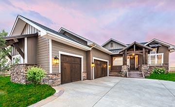 colorado custom home exterior garage doors