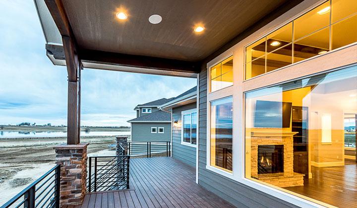 colorado custom home Deck