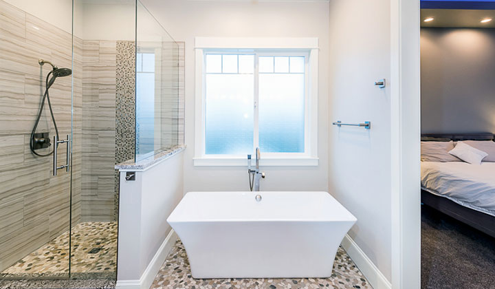 colorado custom home Bathroom tub