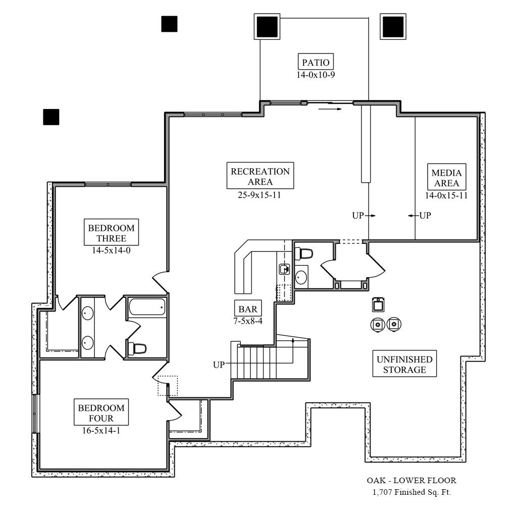 Oak Lower Floor Plan