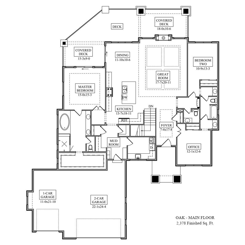 Oak Main Floor Plan