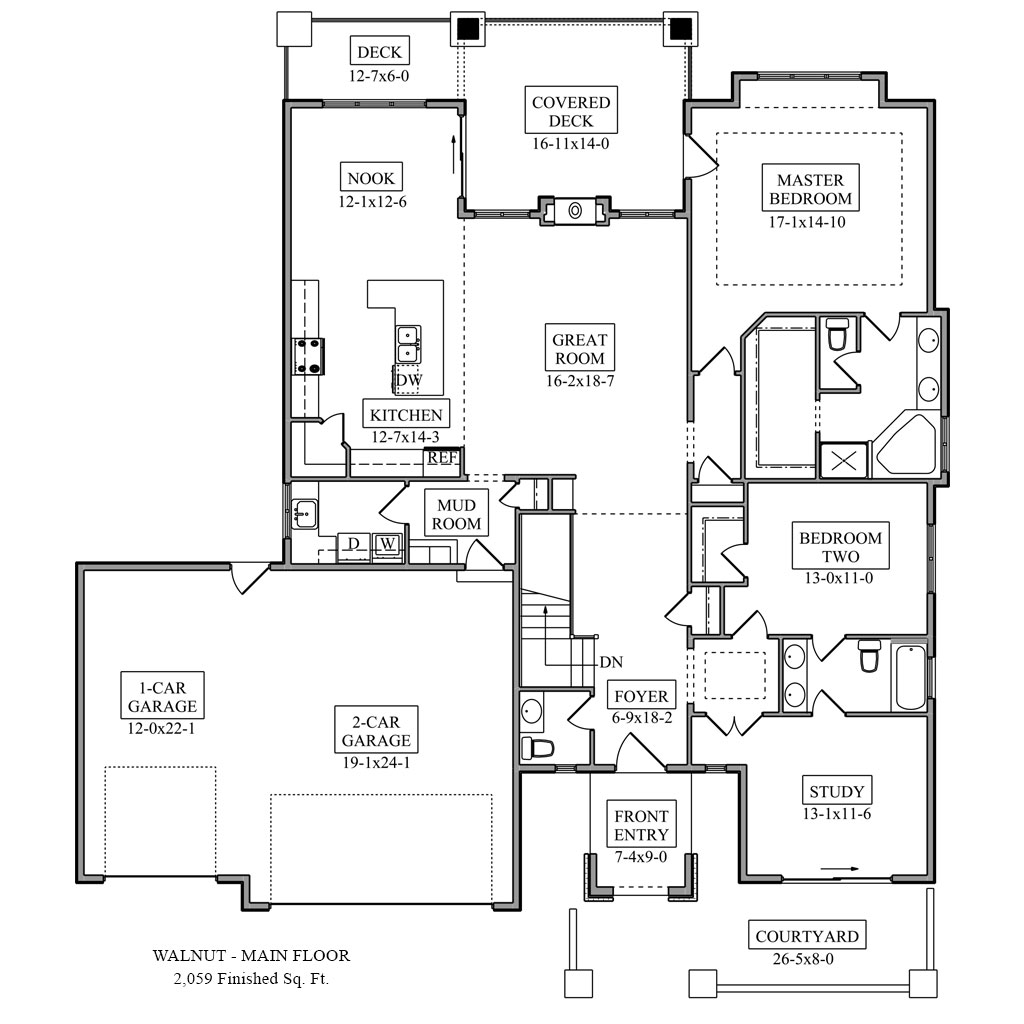 Walnut floor plan colorado custom home