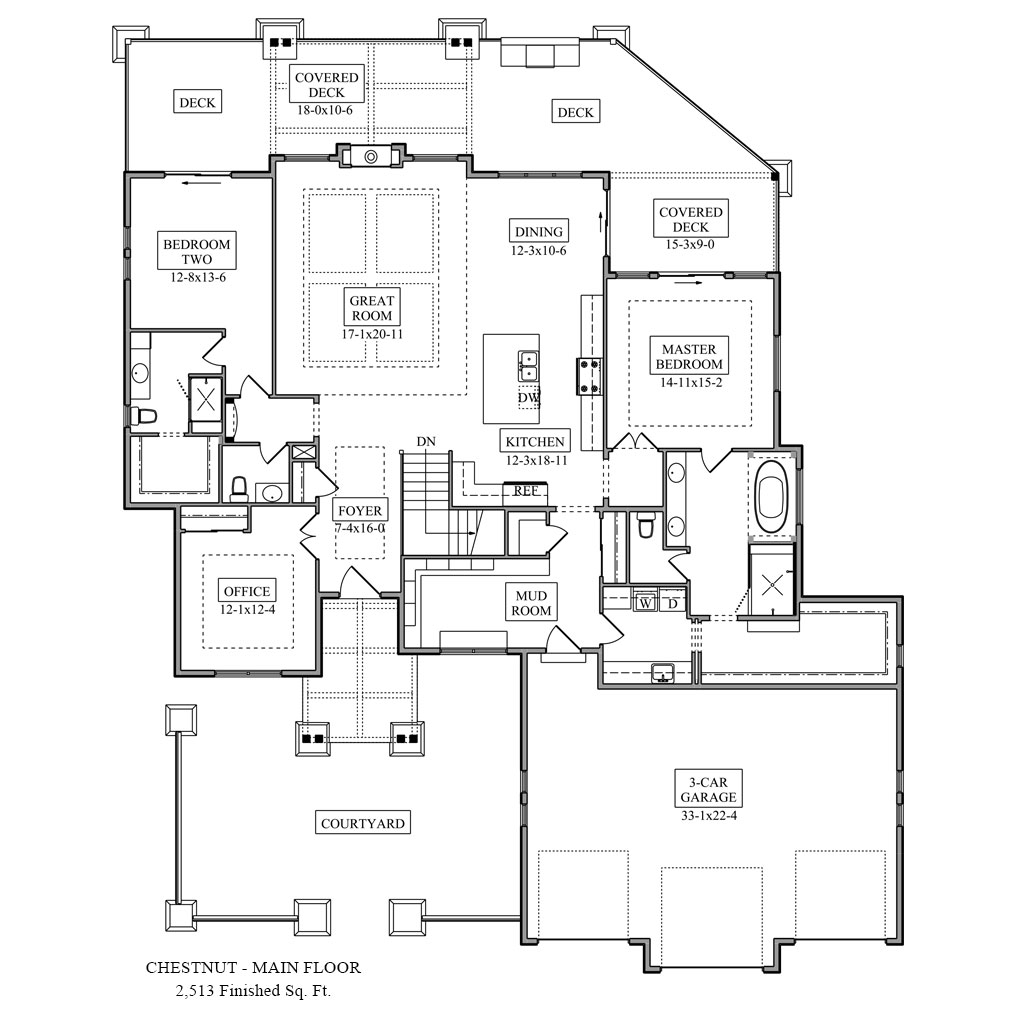 Chestnut colorado custom home Floor plan