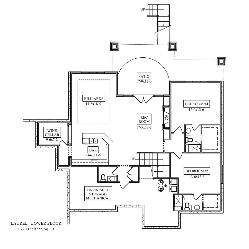 Laurel Lower Floor Plan