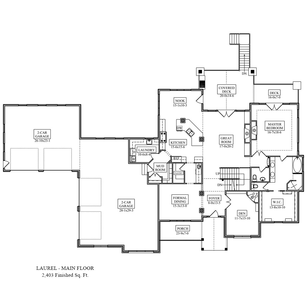 Laurel floor plan colorado custom home