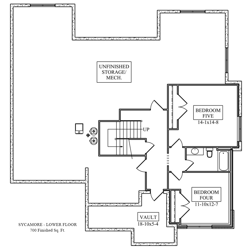 Sycamore Lower Floor Plan