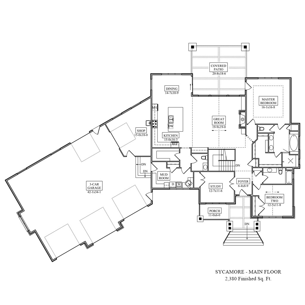 Sycamore Main Floor Plan