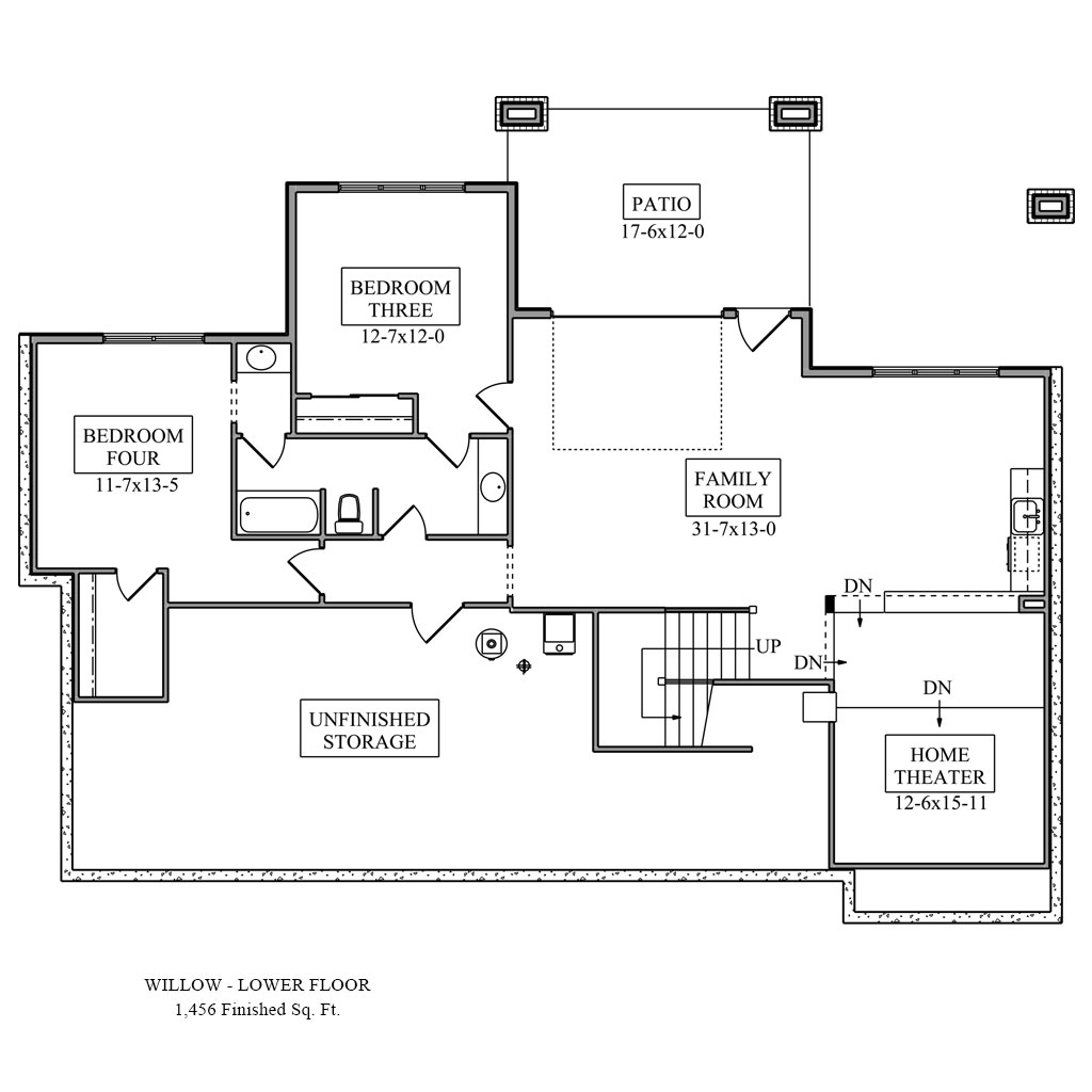 Willow Main Floor Plan