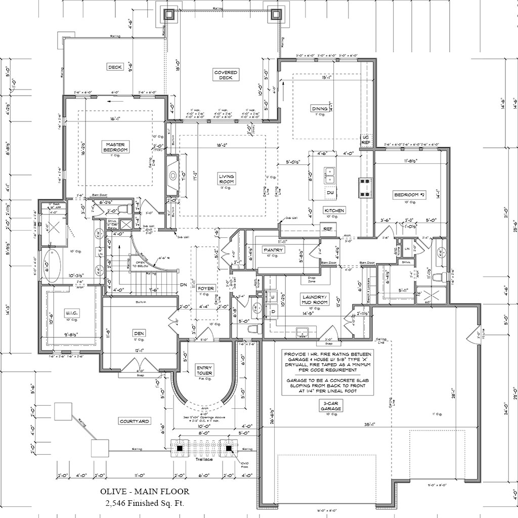 Olive floor plan Colorado Custom Home