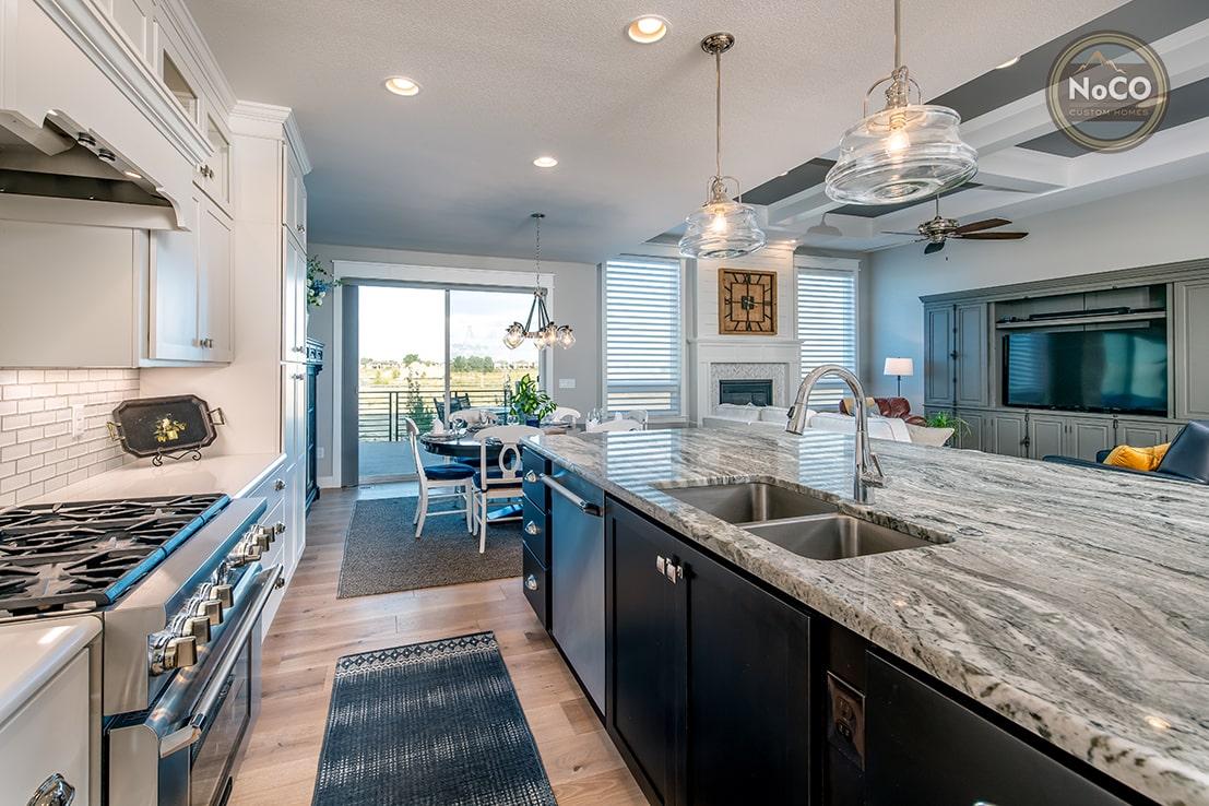 colorado custom home open kitchen