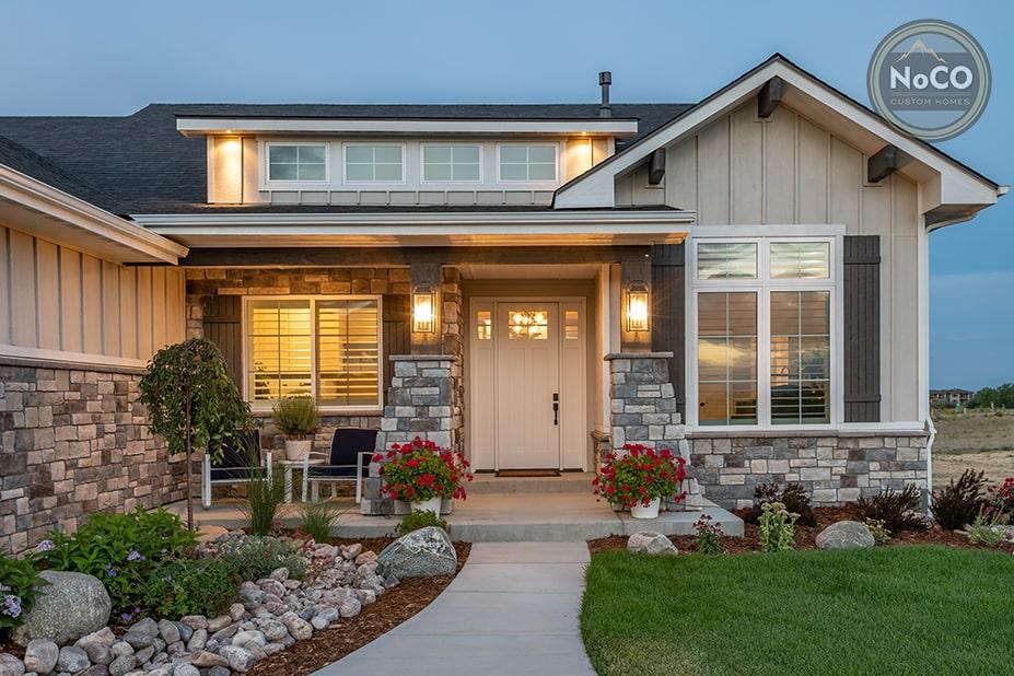 colorado custom home exterior front door