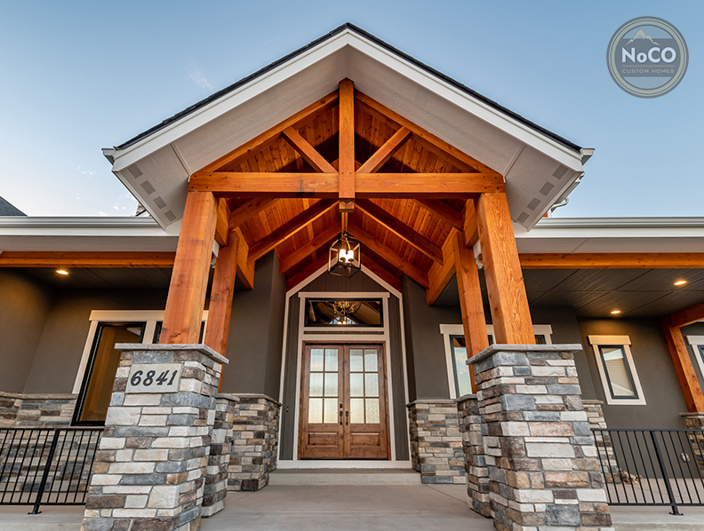 colorado custom home craftsman exterior