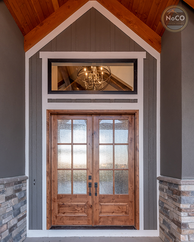 colorado custom home exterior front door