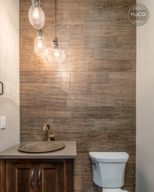 colorado custom home powder room bathroom