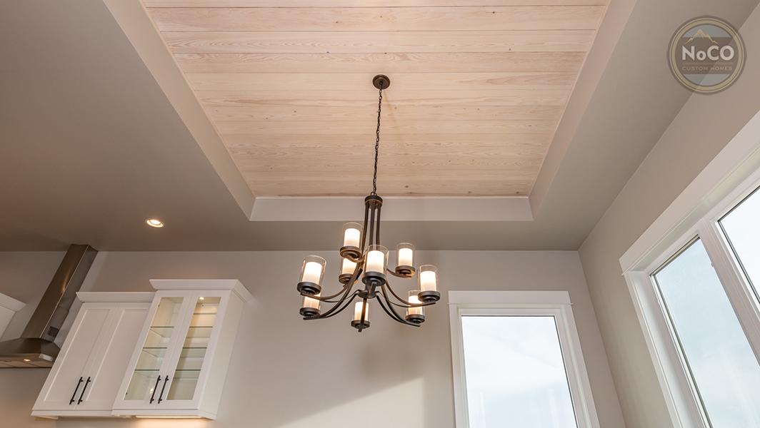 colorado custom home tray ceiling