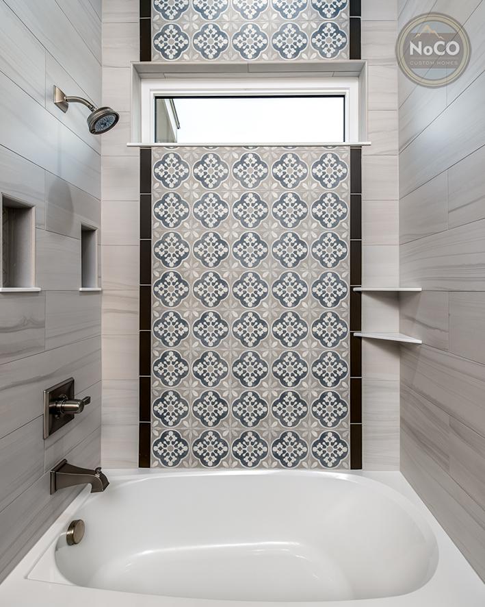 colorado custom home unique tile bathtub