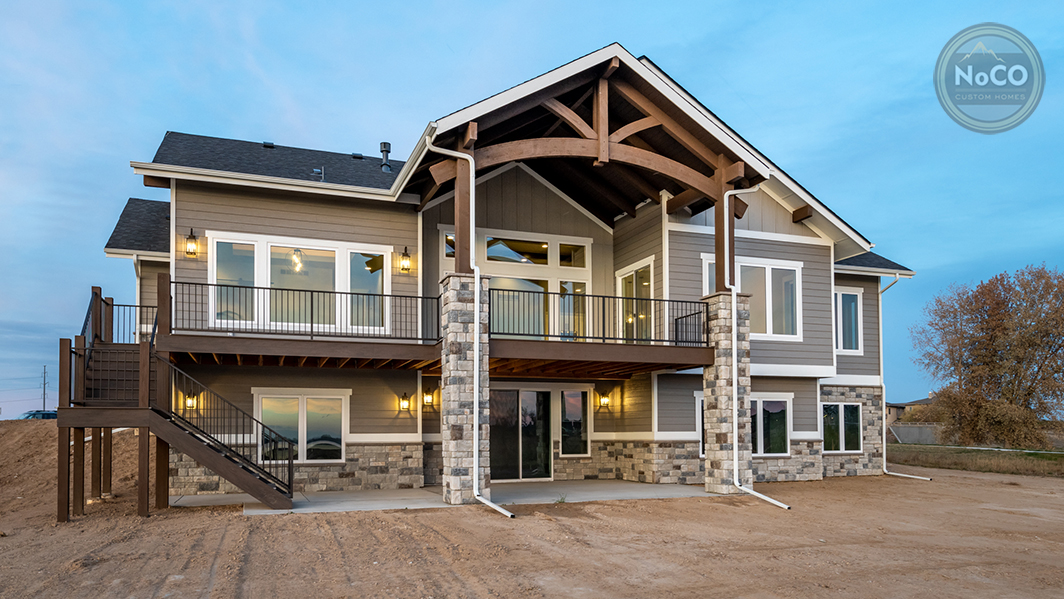 colorado custom home exterior back deck