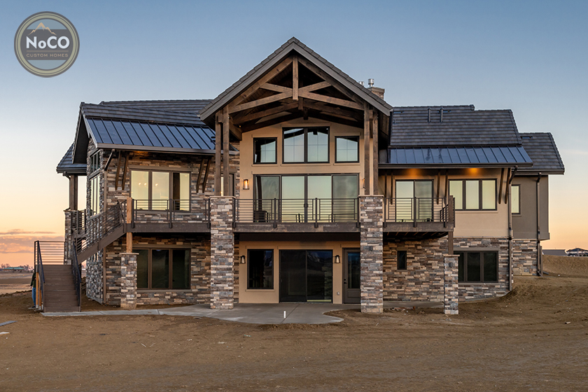 colorado custom home stone exterior