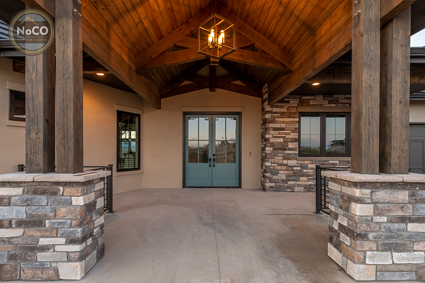 colorado custom home front door