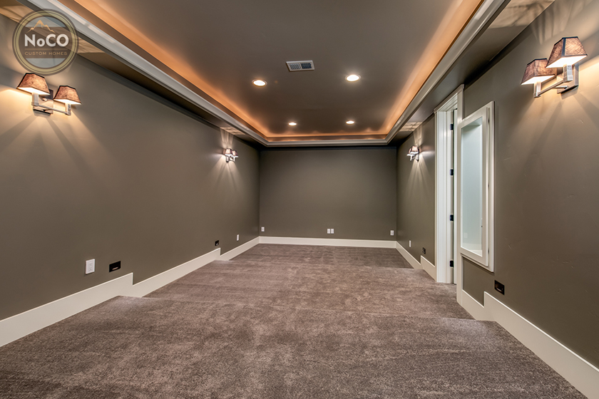 colorado custom home basement home theater