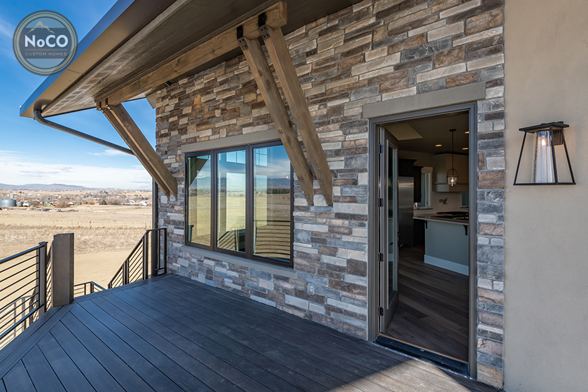 colorado custom home exterior deck