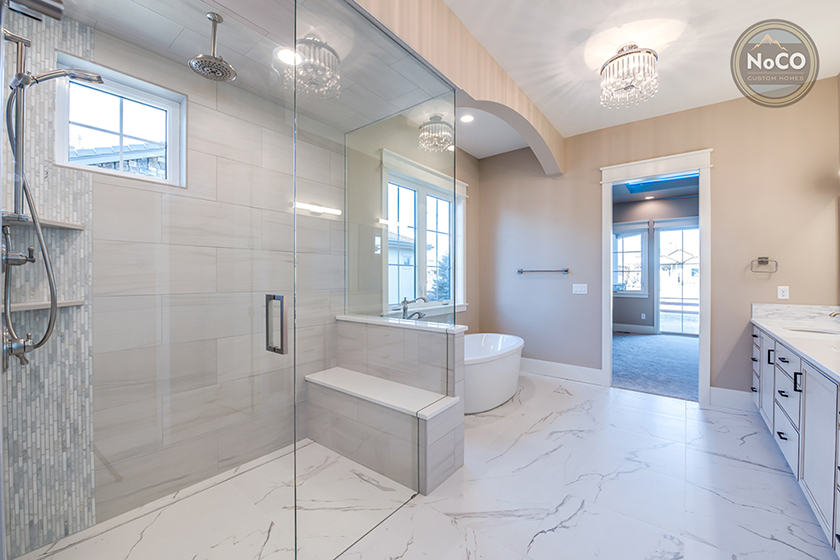 colorado custom home master bathroom