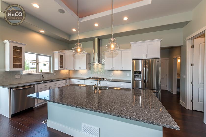 colorado custom home kitchen counter