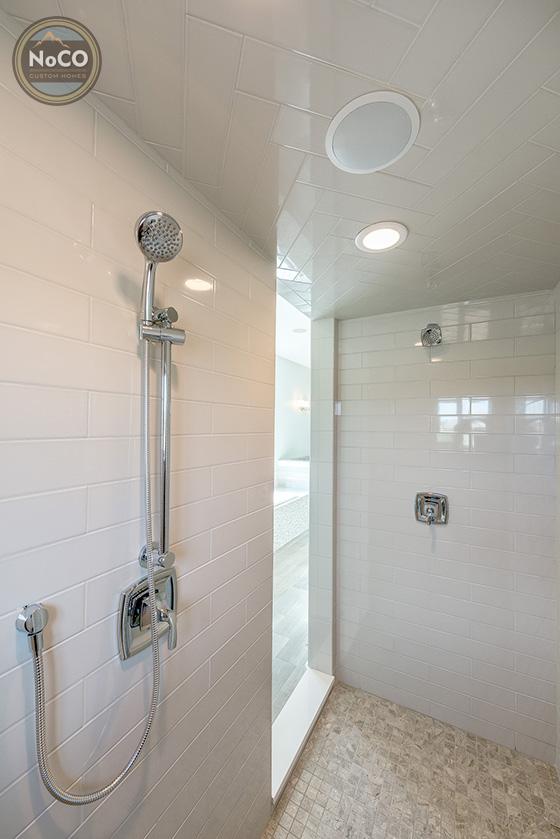 colorado custom home tile shower