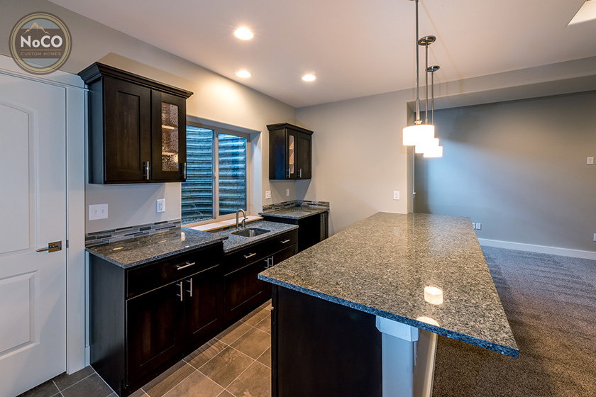colorado custom home kitchenette