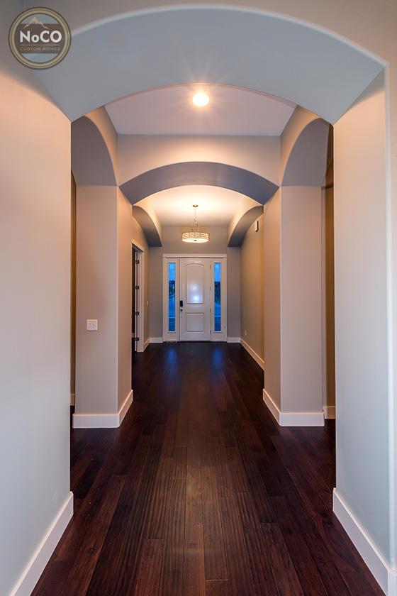colorado custom home hallway entryway