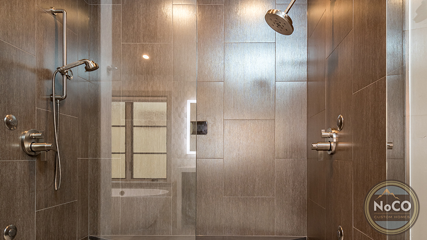 colorado custom home tile shower