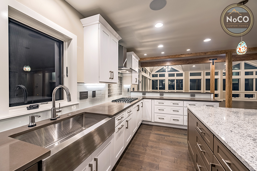 colorado custom home kitchen stainless steel