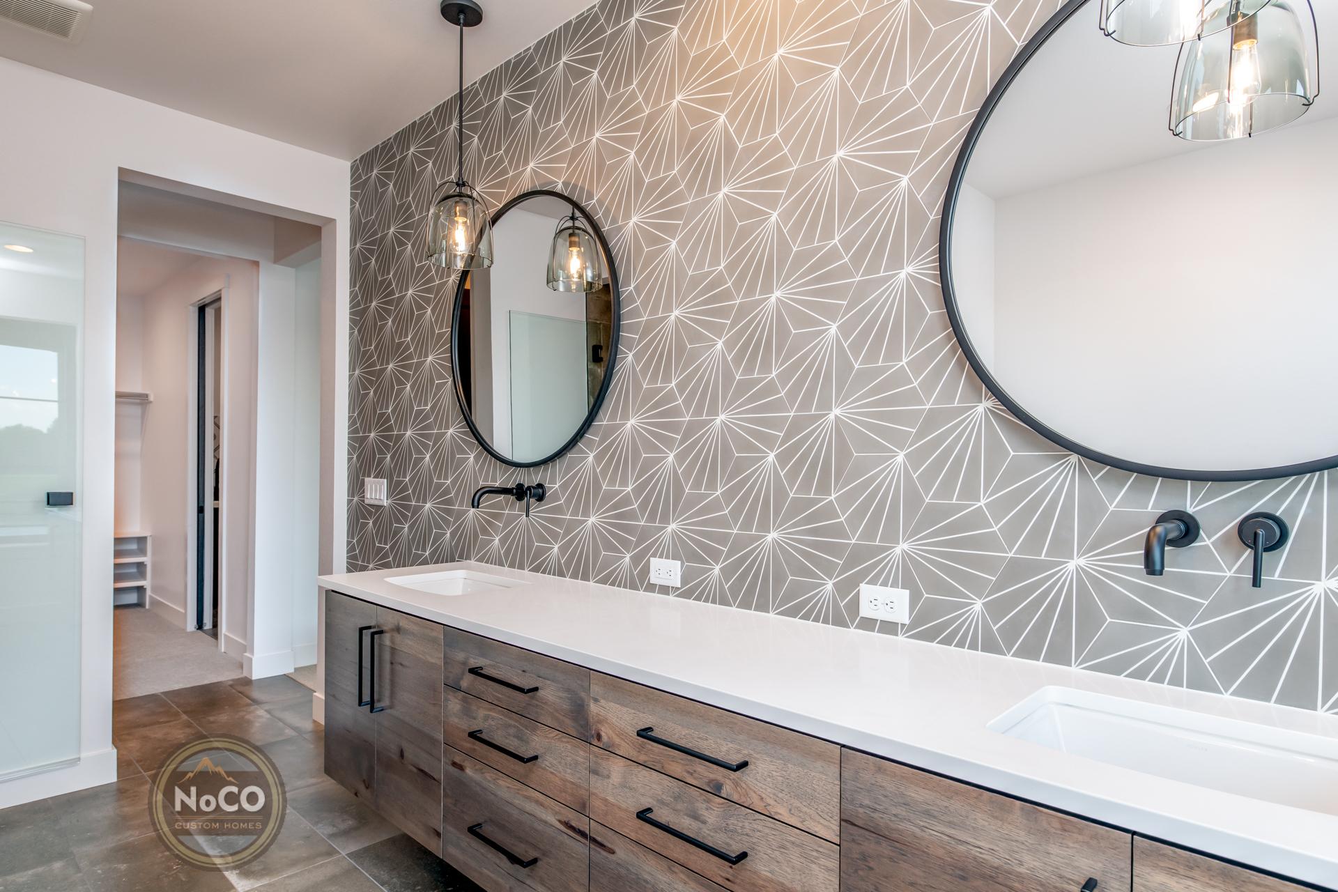 colorado custom home master bathroom double sink
