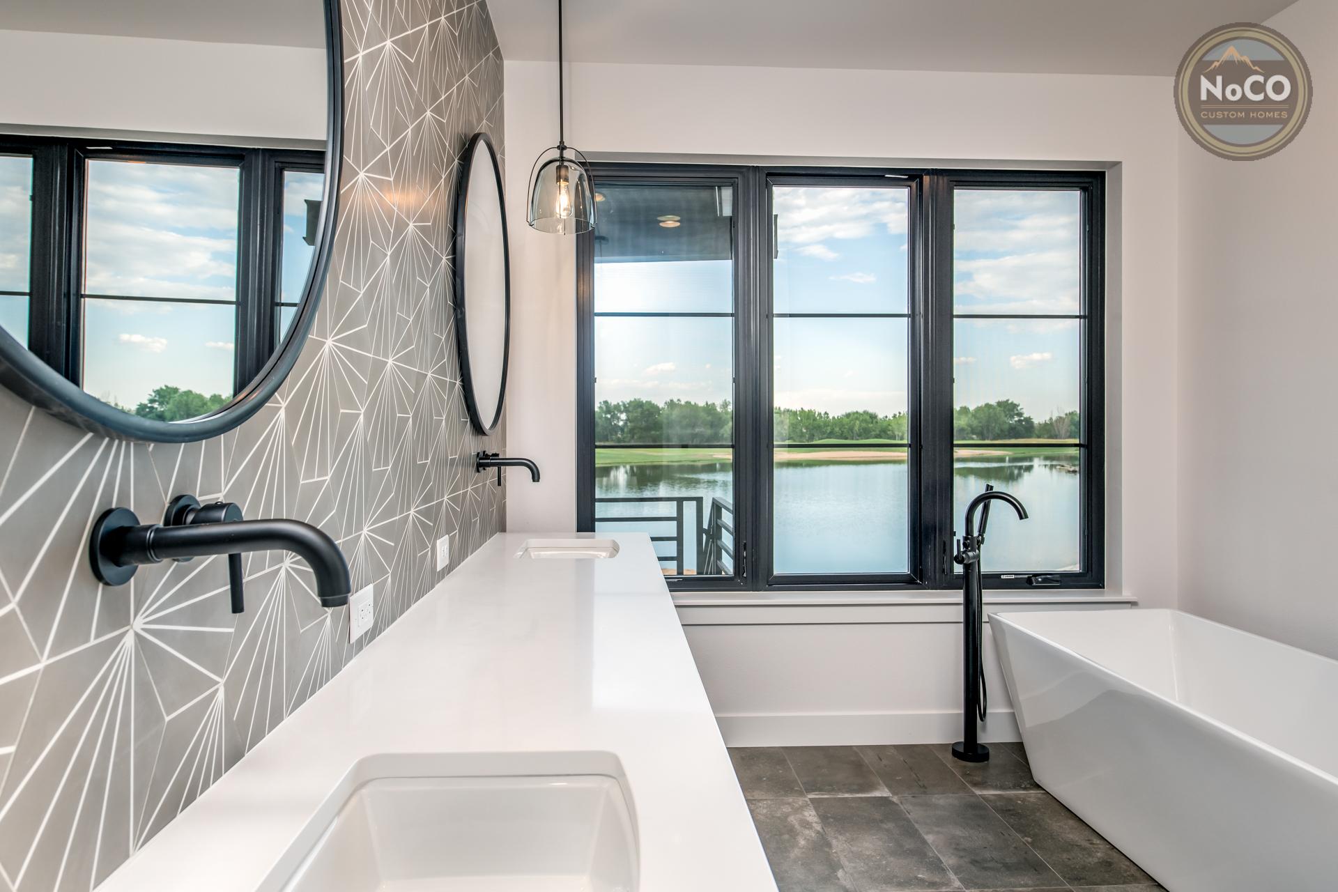 colorado custom home master bathroom