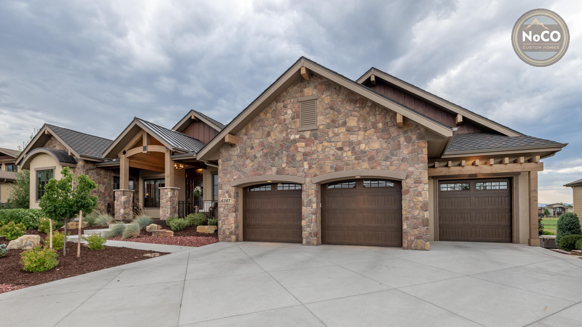 colorado custom home garage doors