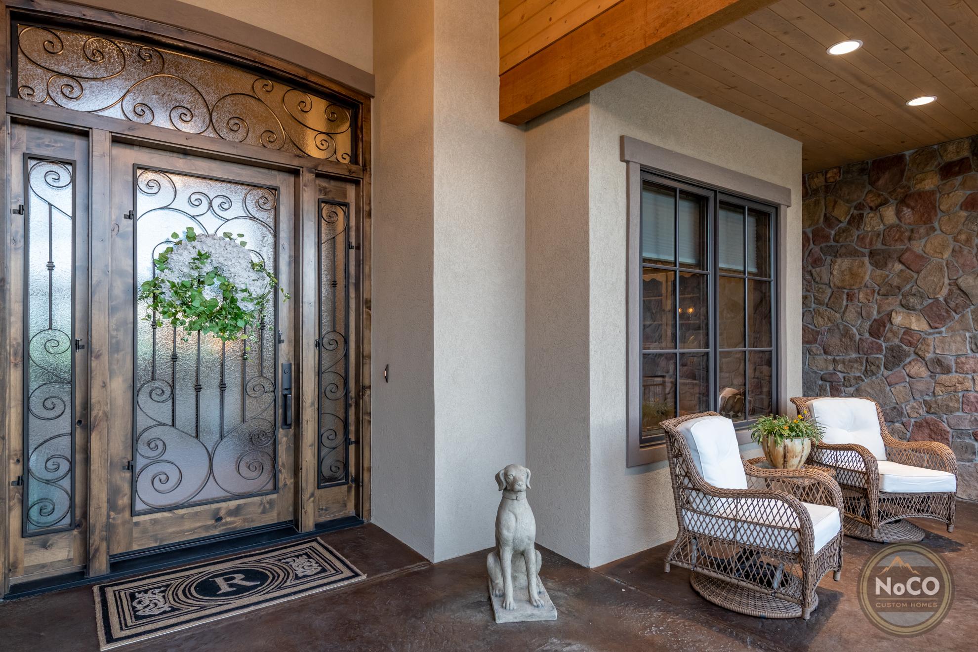 colorado custom home front door porch