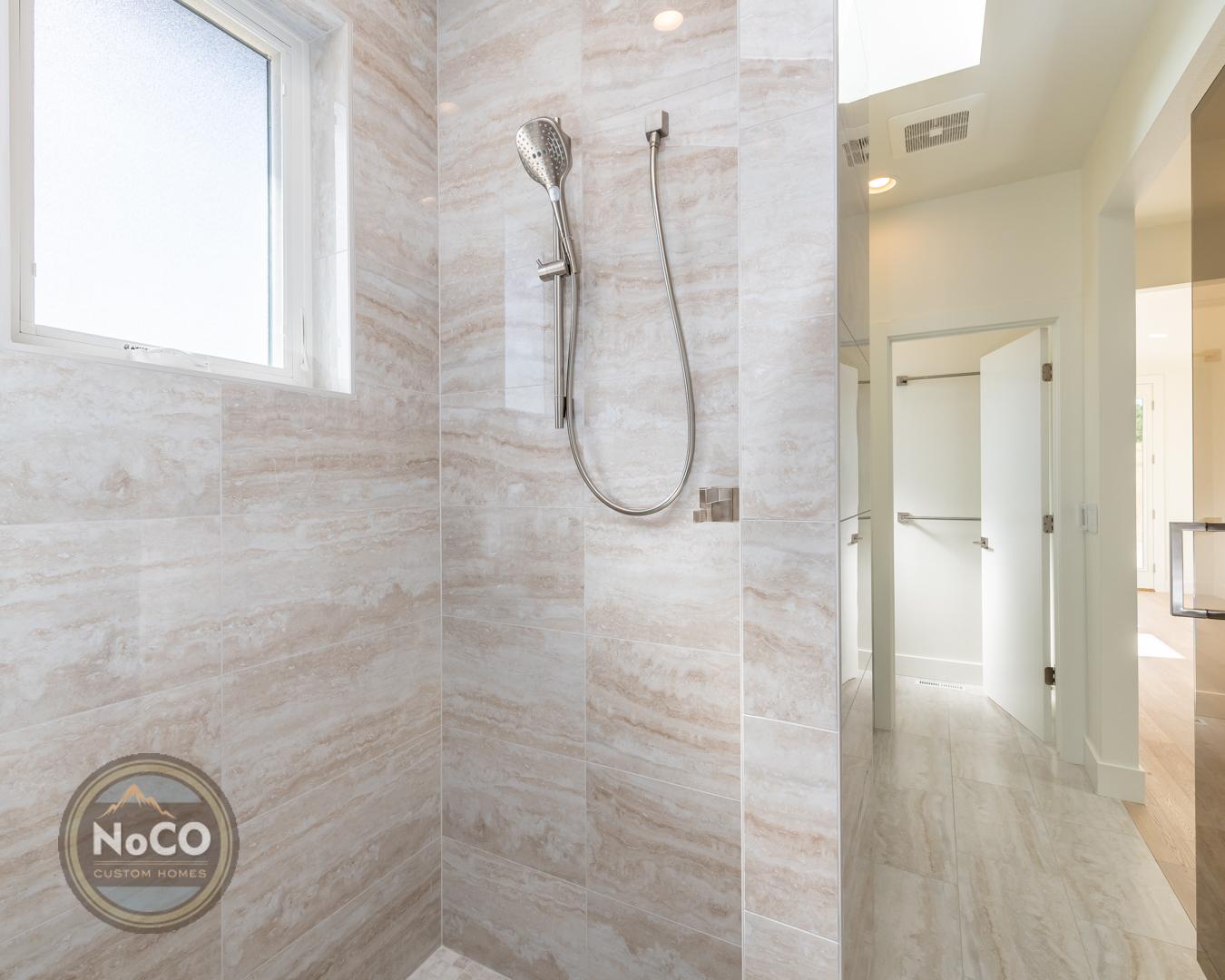 colorado custom home shower