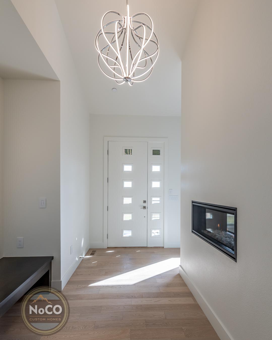 colorado custom home entryway front door
