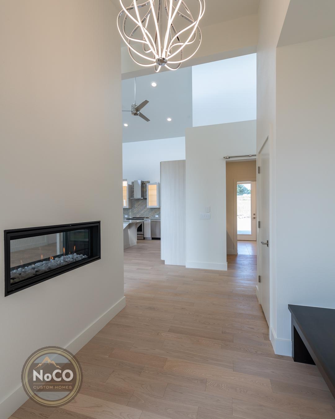 colorado custom home fireplace
