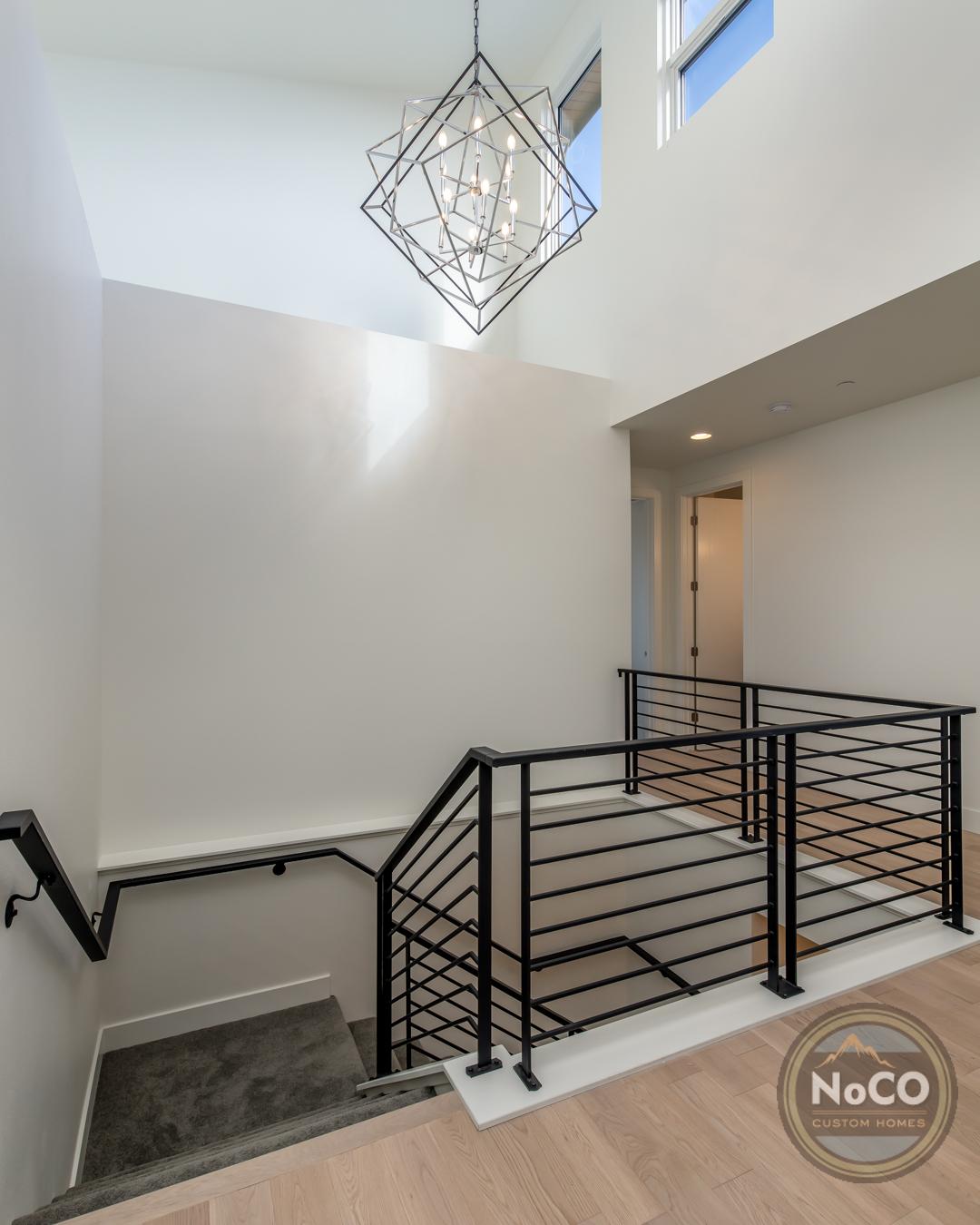 colorado custom home stair railing