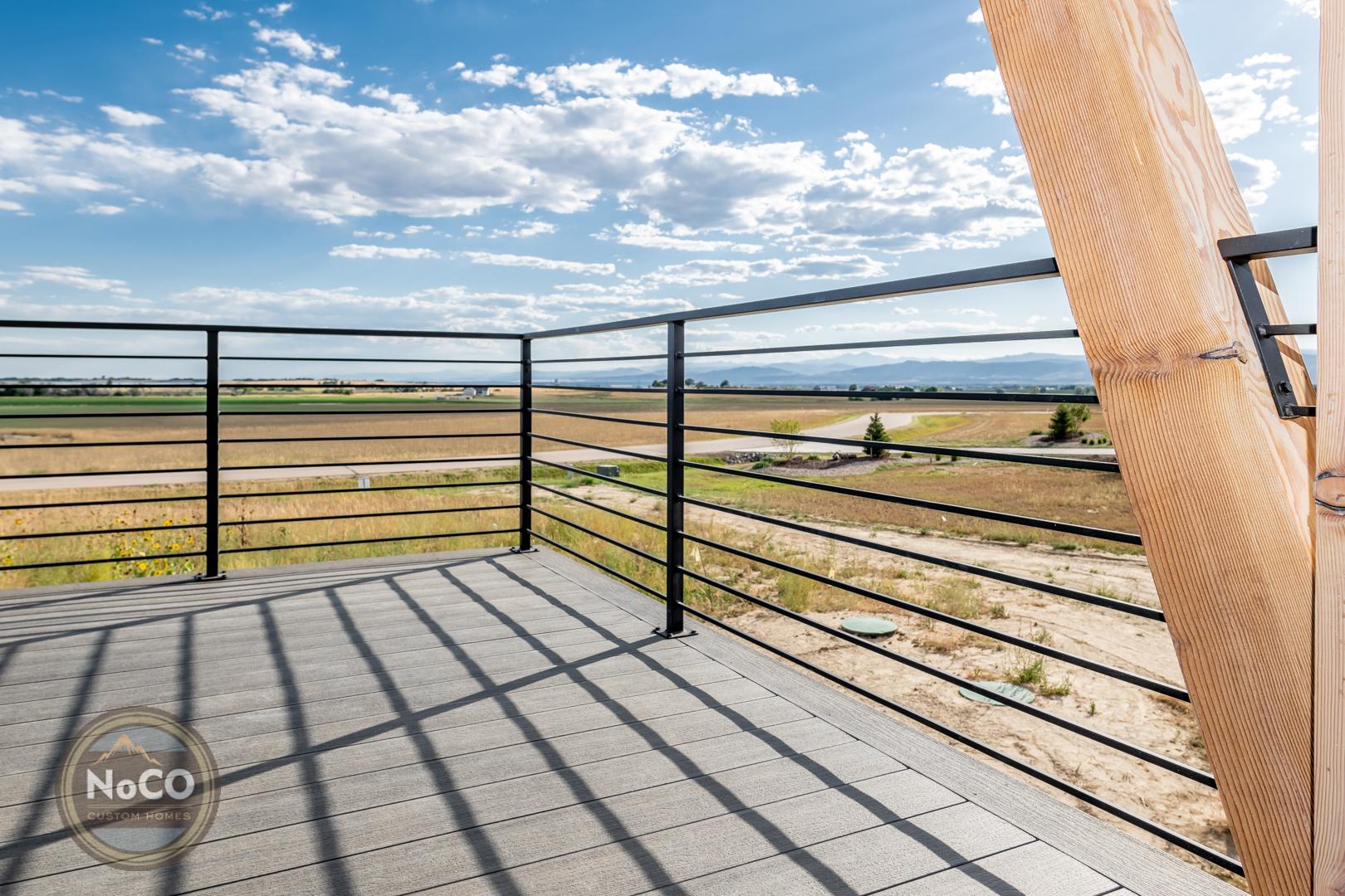 colorado custom home back deck railing