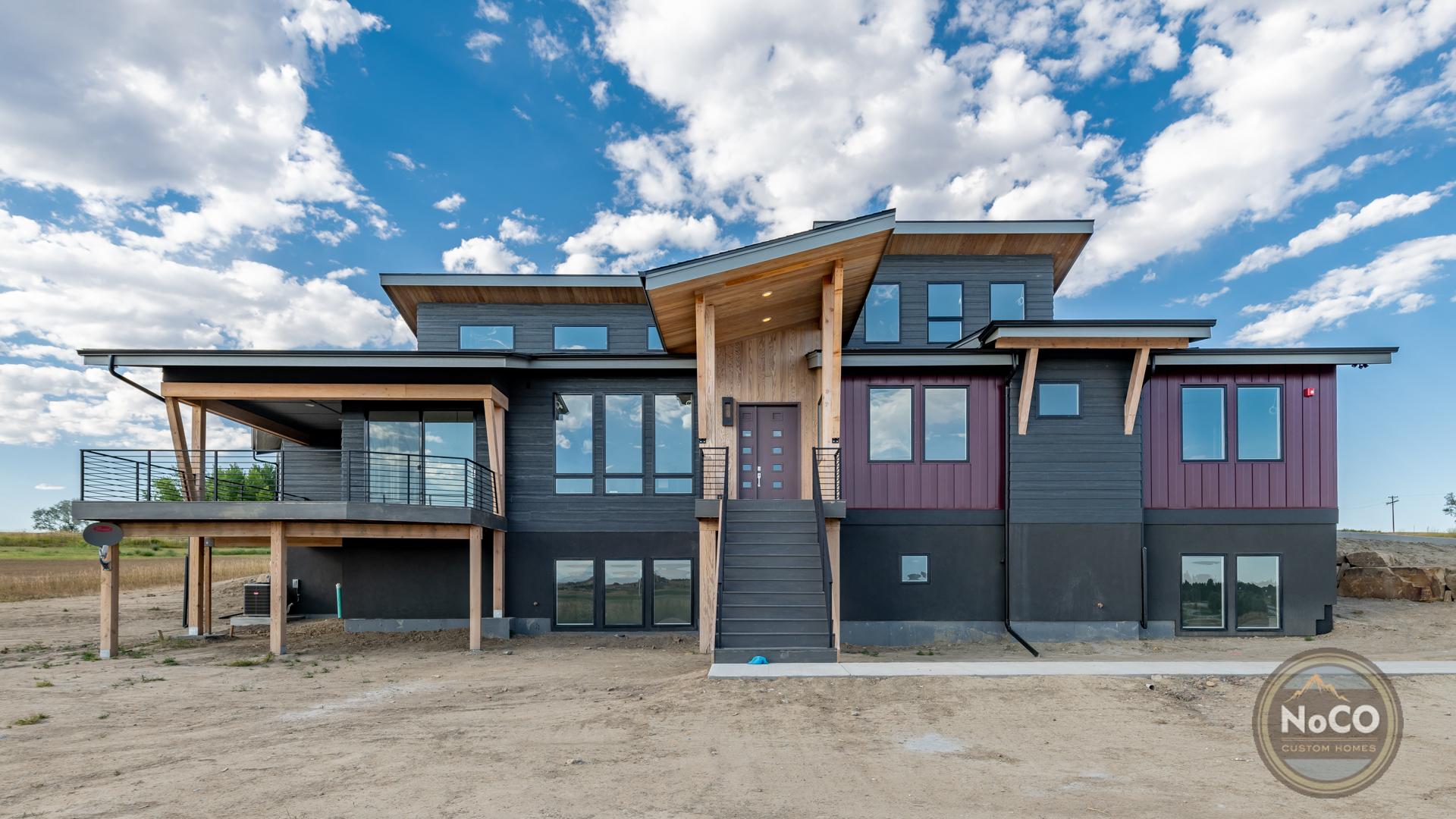 colorado custom home contemporary exterior