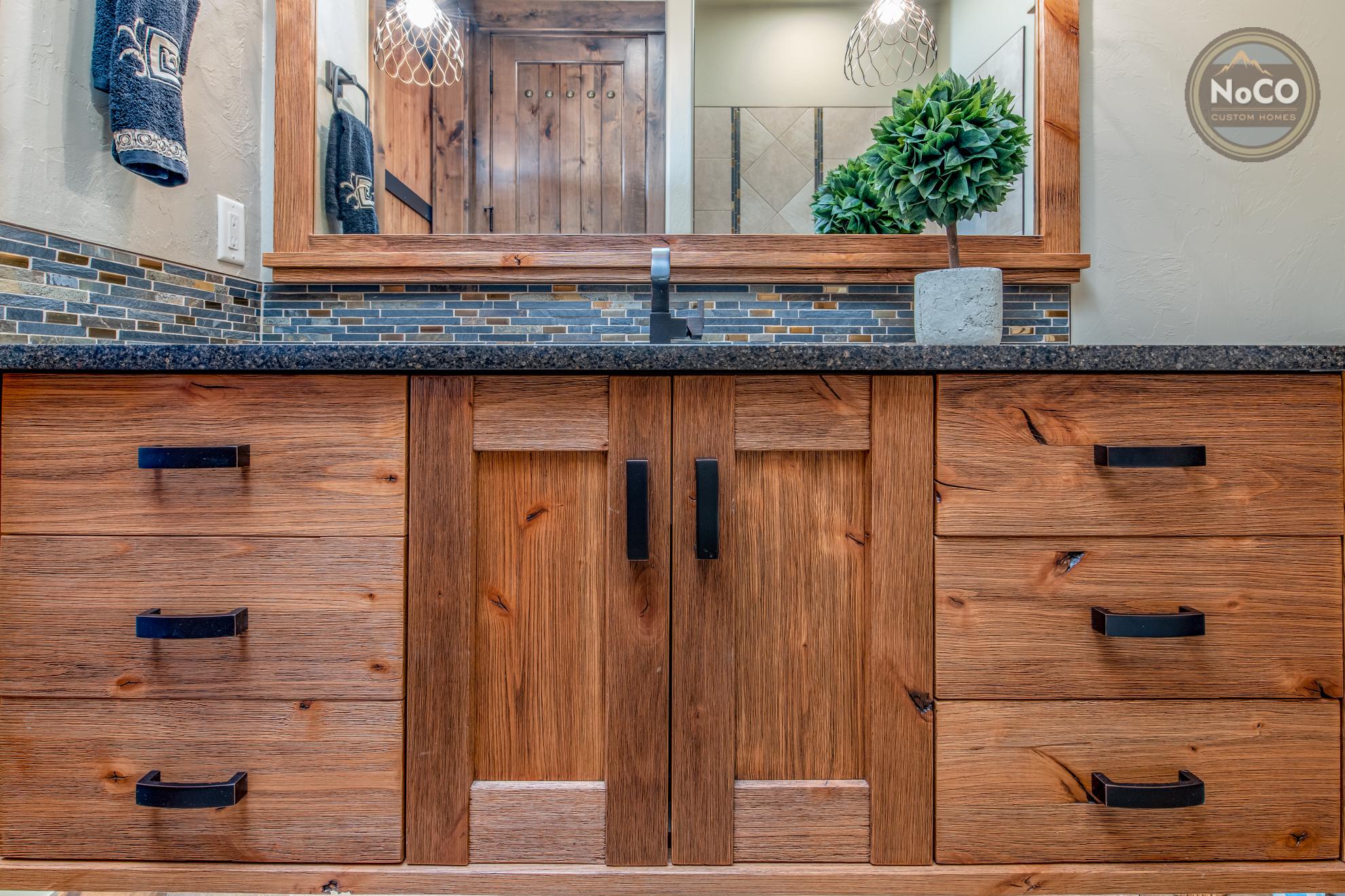 colorado custom home bathroom vanity