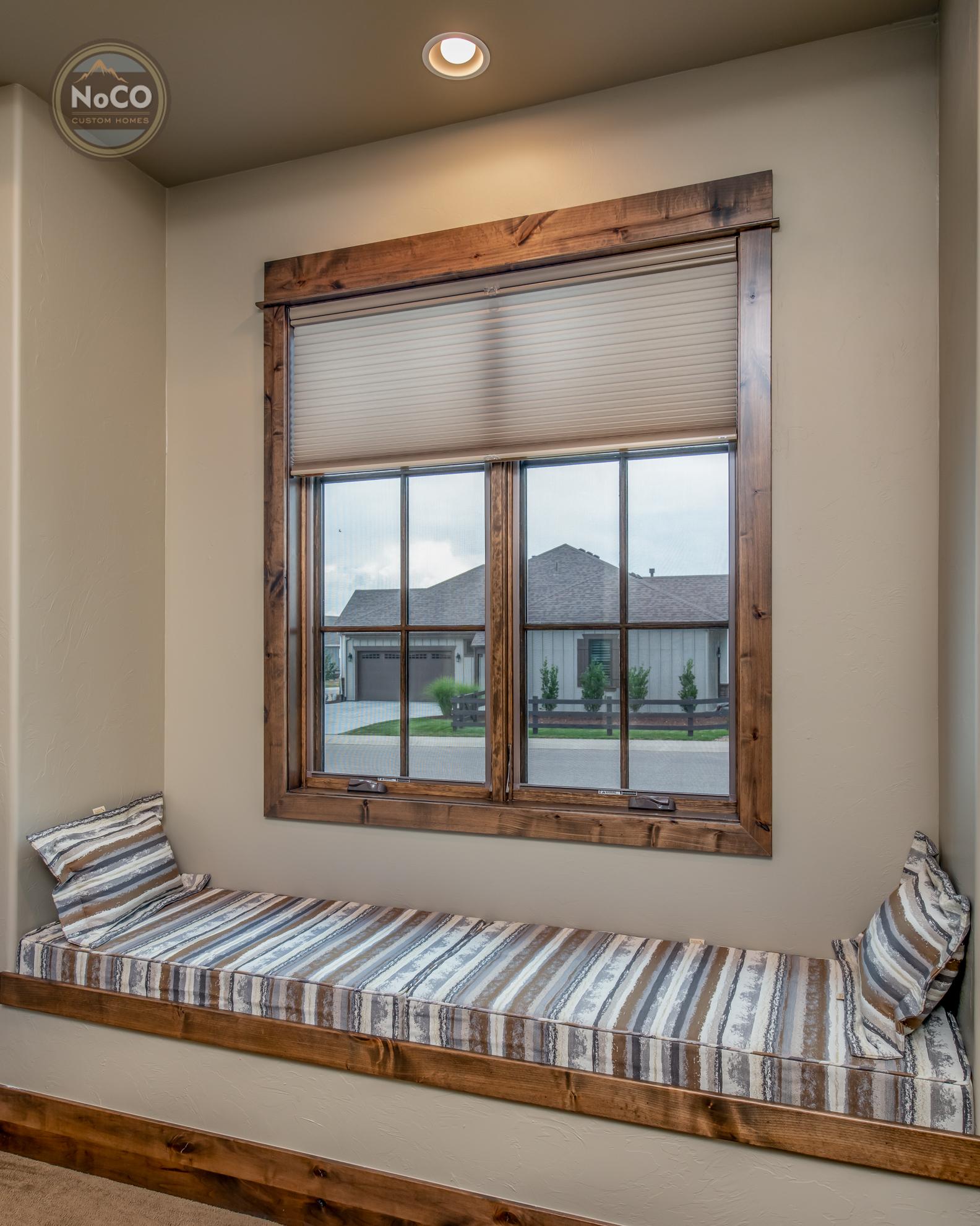 colorado custom home window seat