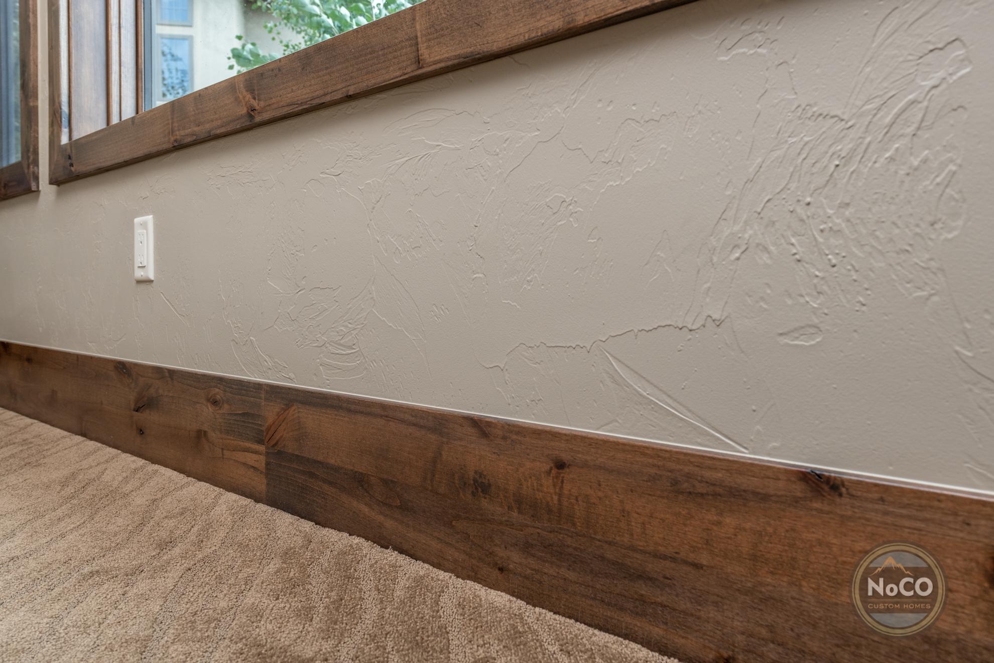colorado custom home wood baseboards