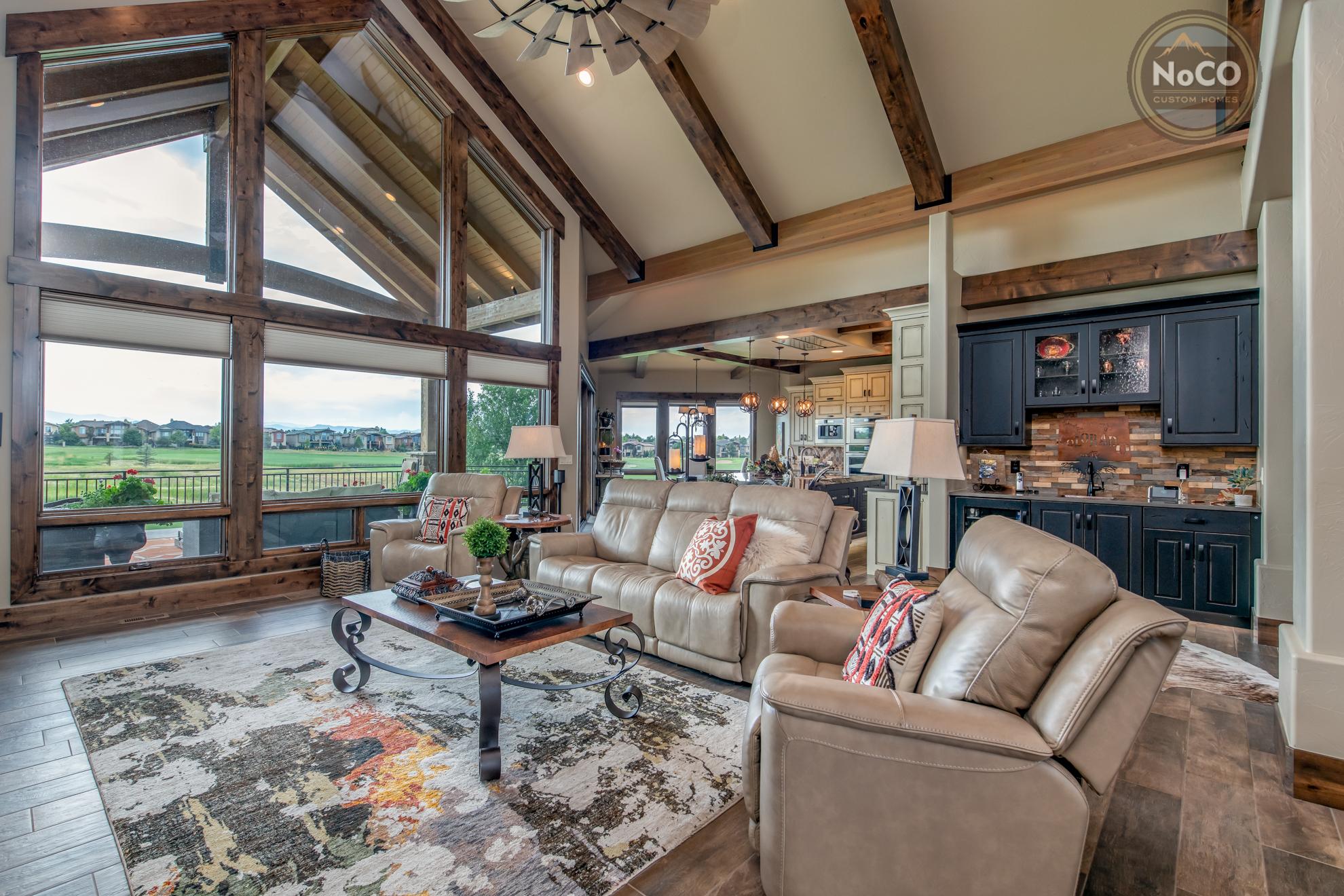 colorado custom home living room windows
