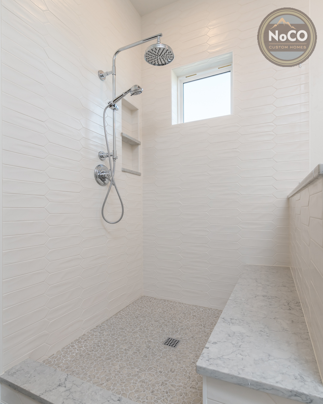 colorado custom home shower