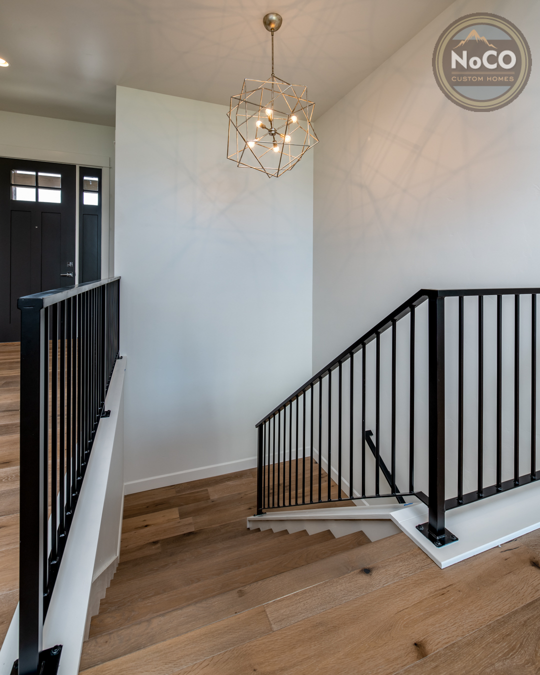 colorado custom home wood stairs
