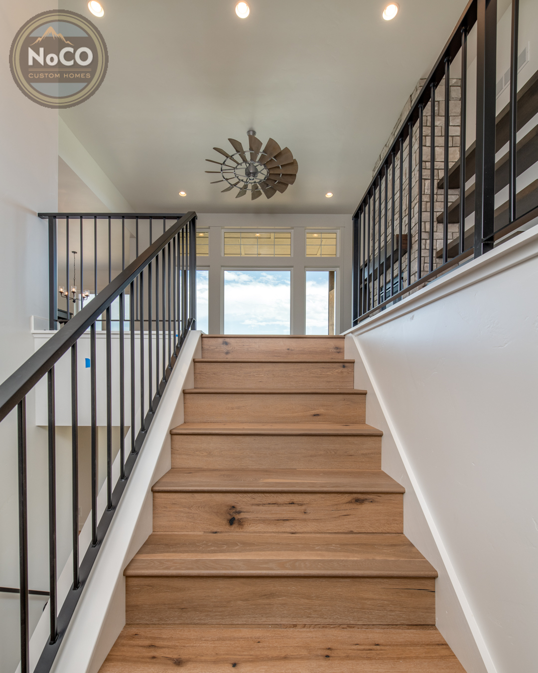 colorado custom home stairs